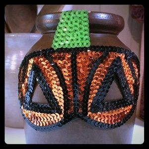 Sequin Pumpkin Mask